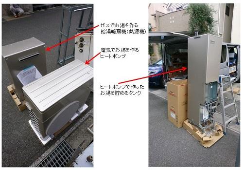 リンナイのハイブリッド給湯・暖房システムのECO ONE1