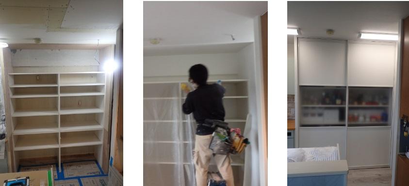 キッチン収納 施工過程
