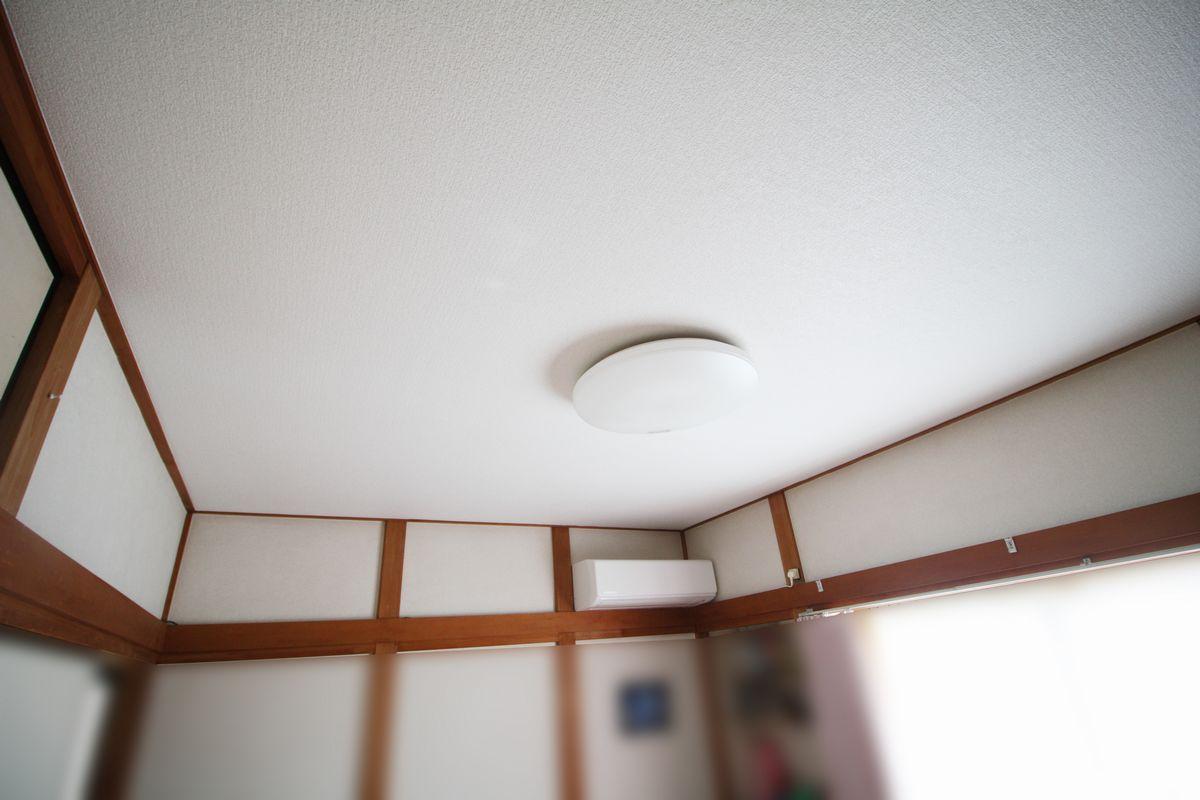 和室天井施工後
