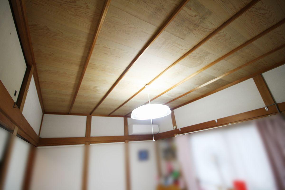 和室天井施工前