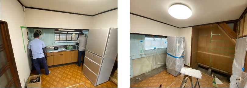 キッチン・押入撤去