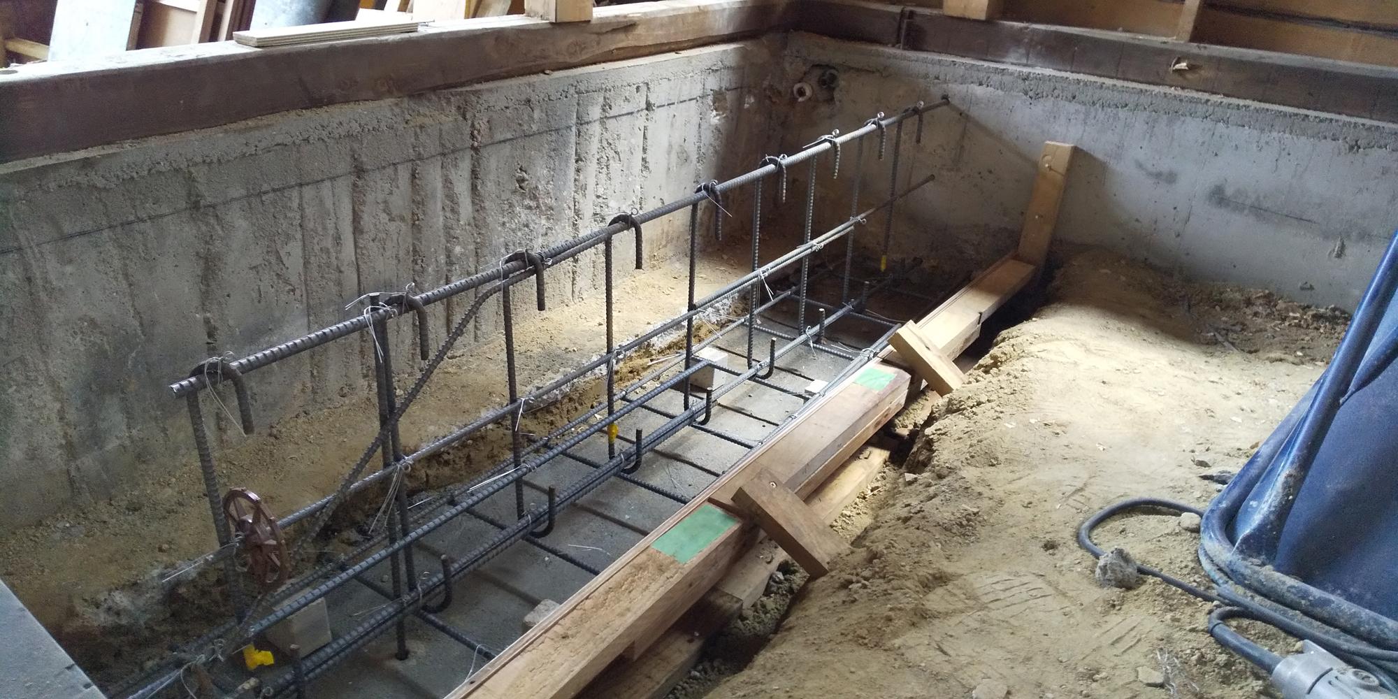 耐震補強の基礎工事