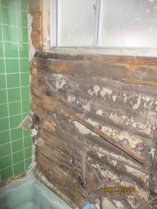 在来の浴室の壁