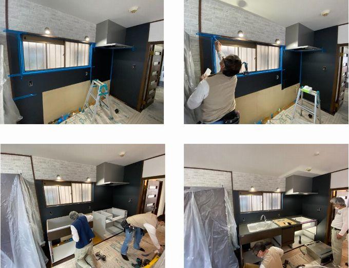 キッチン組立施工
