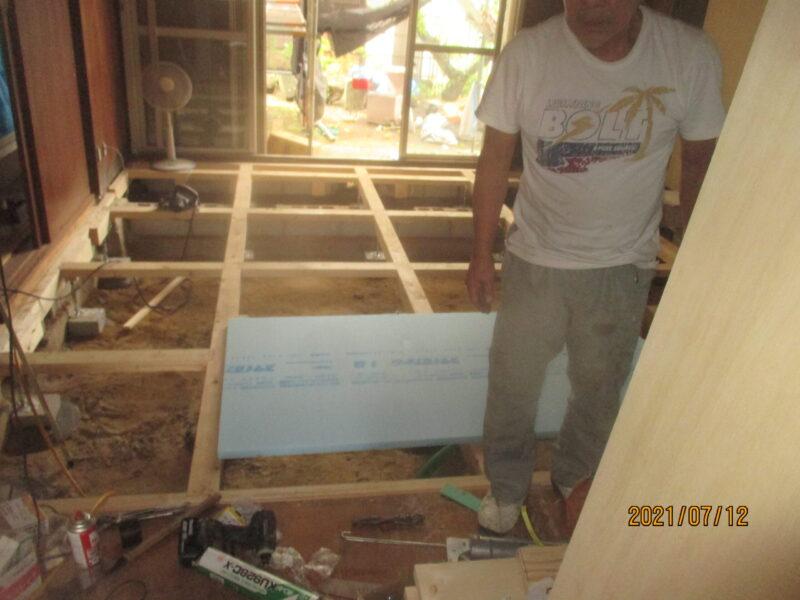 床下地の改修