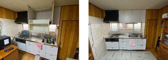 キッチン吊戸棚施工前